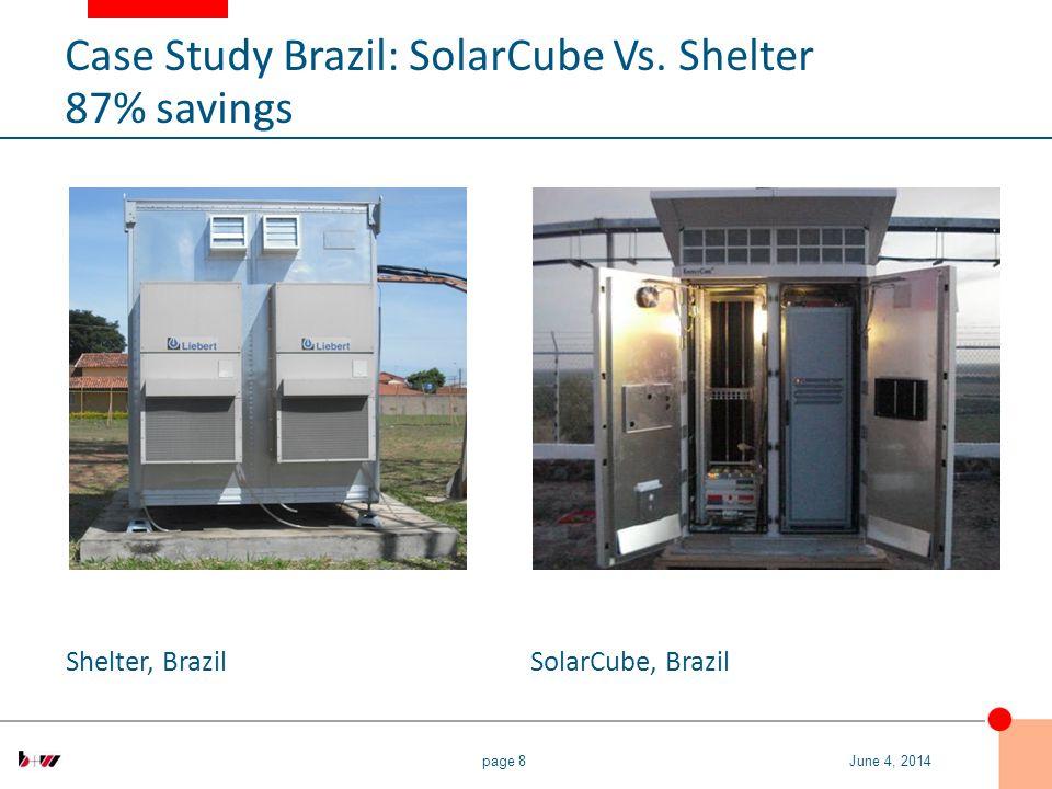 page 8 Shelter, BrazilSolarCube, Brazil June 4, 2014 Case Study Brazil: SolarCube Vs.