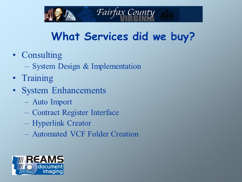 What Services did we buy.