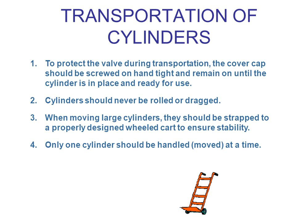 1.To protect the valve during transportation, the cover cap should be screwed on hand tight and remain on until the cylinder is in place and ready for