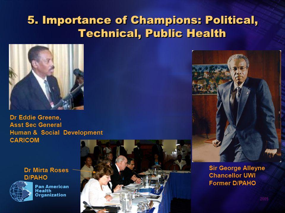 2005 Pan American Health Organization 5.