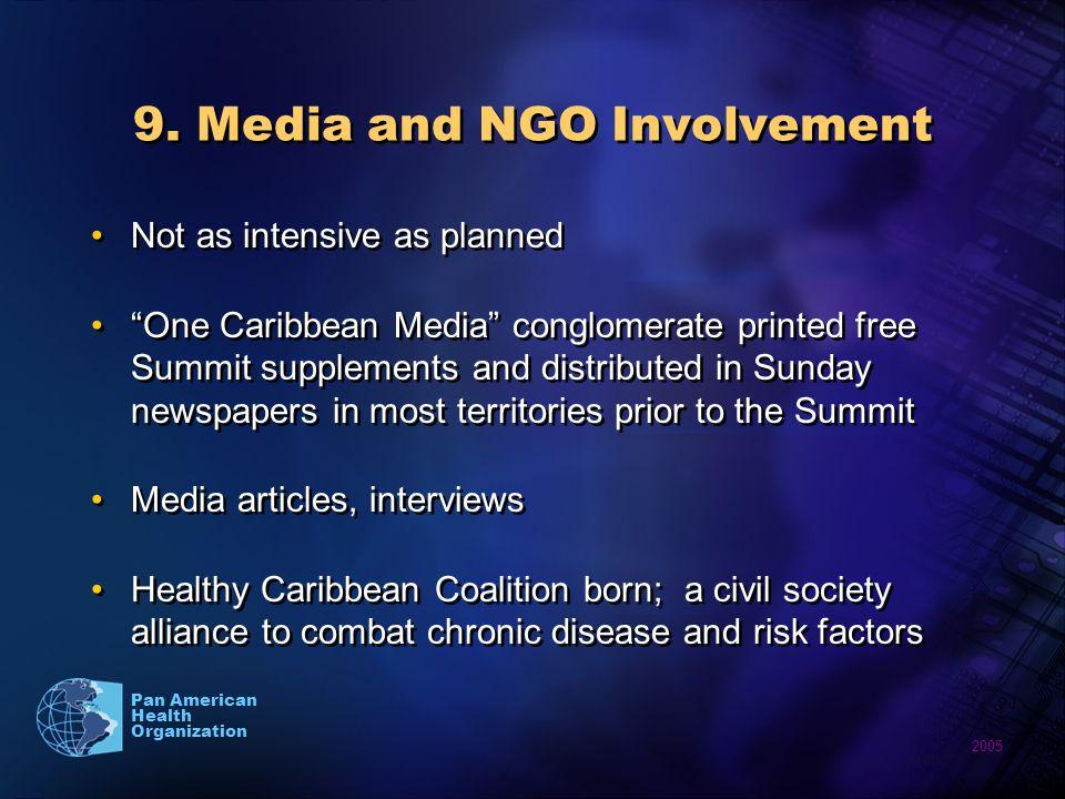 2005 Pan American Health Organization 9.