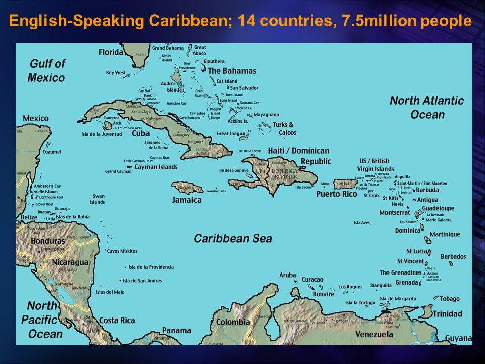 2005 Pan American Health Organization English-Speaking Caribbean; 14 countries, 7.5million people