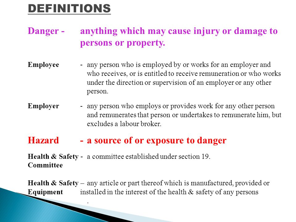 At the end of this course you should be able to: Identify most common safety hazards in your office Apply daily Health and Safety Principals into your work activities Conducted by: Frontline Safety Health and Environment