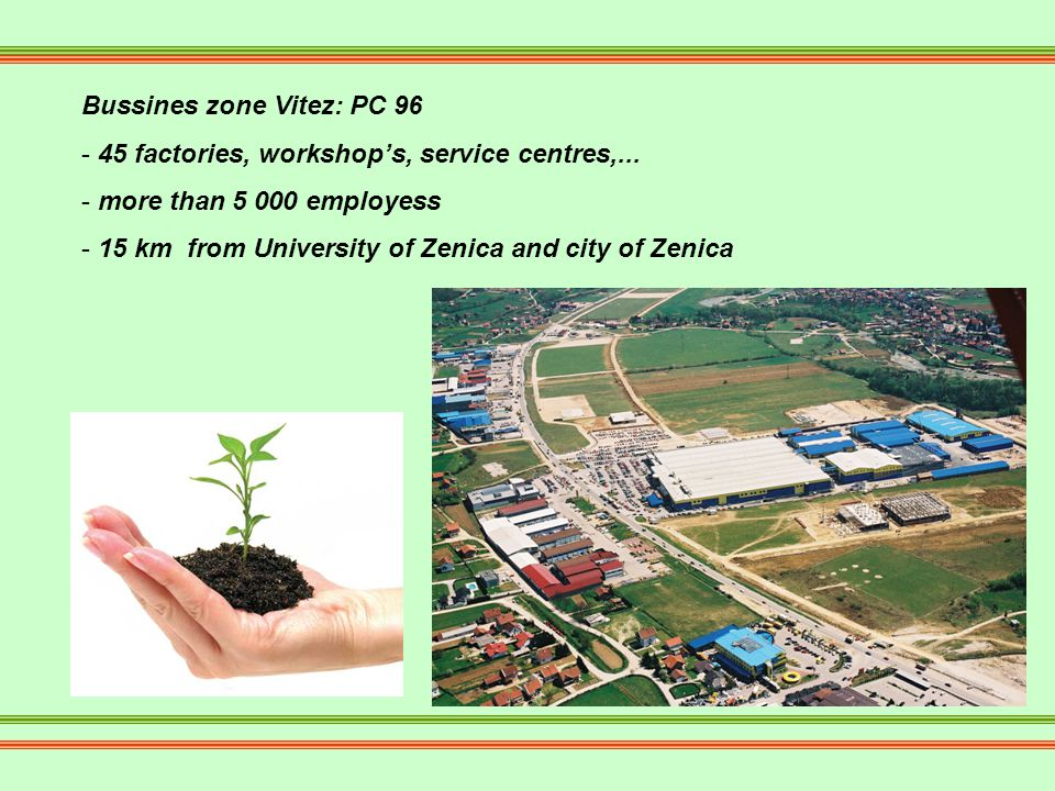 Bussines zone Vitez: PC 96 - 45 factories, workshops, service centres,...