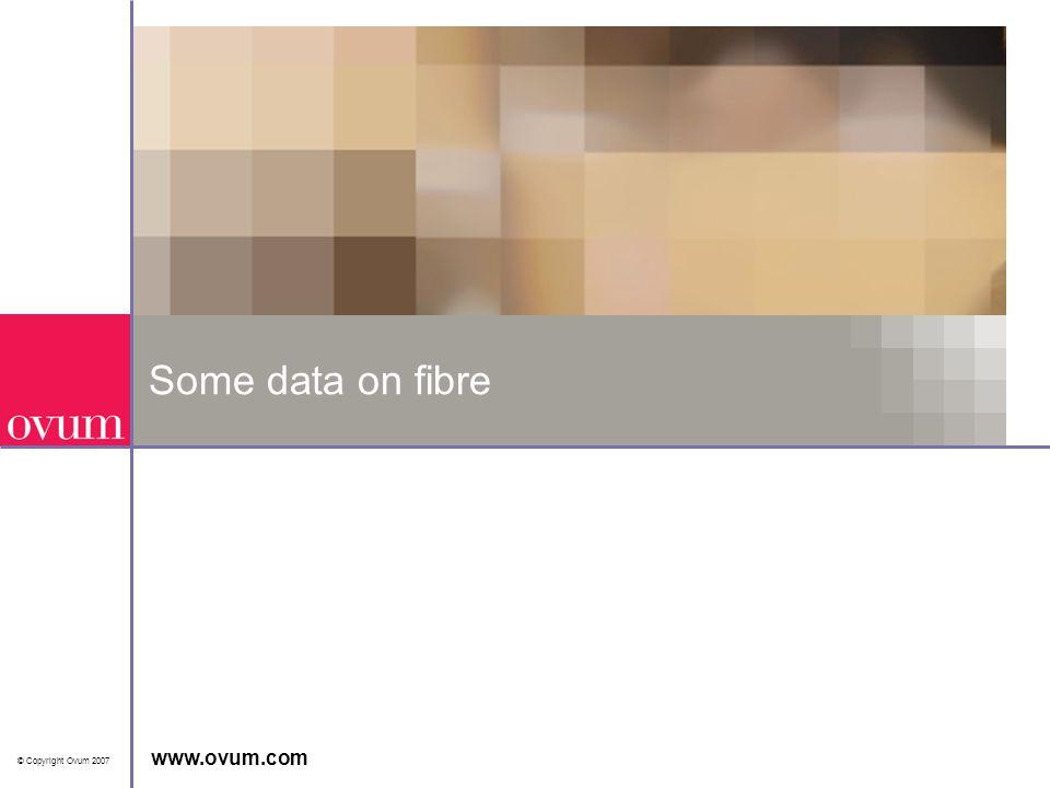 Level 3Some data on fibre © Copyright Ovum 2007 www.ovum.com