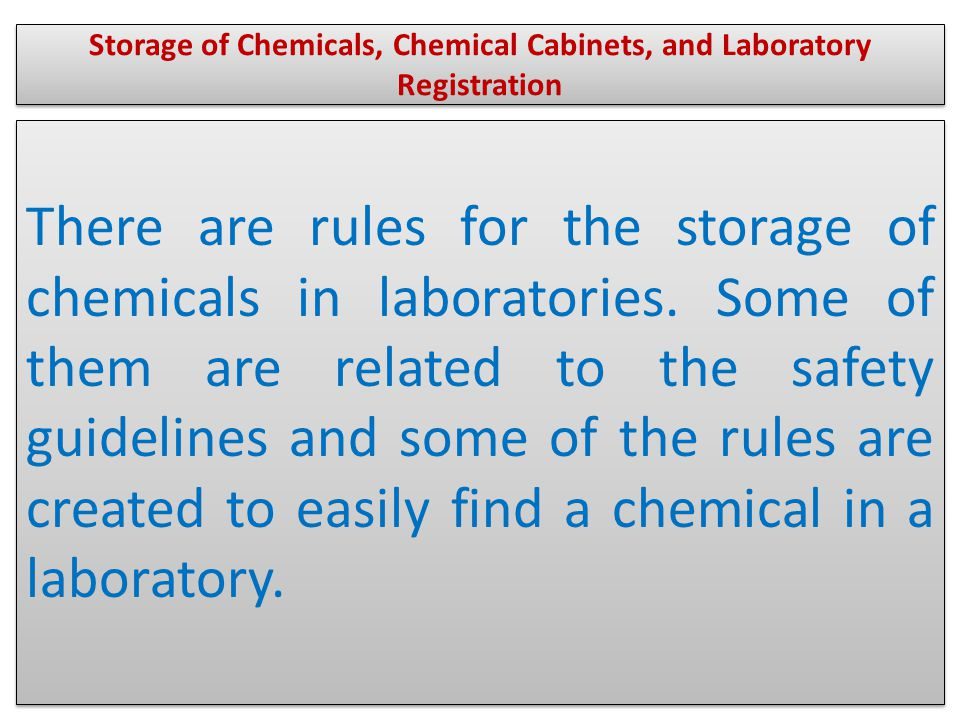 There are lots of laboratory cabinets to store chemicals.