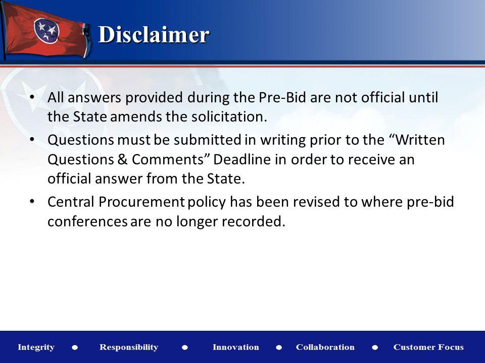 Tentative Schedule of Events 1.Pre-Bid Event Posted11:00 A.M.February 11, 2014 2.