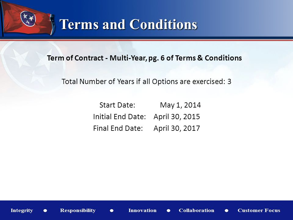 Terms and Conditions Volume, Multi-Year, pg.