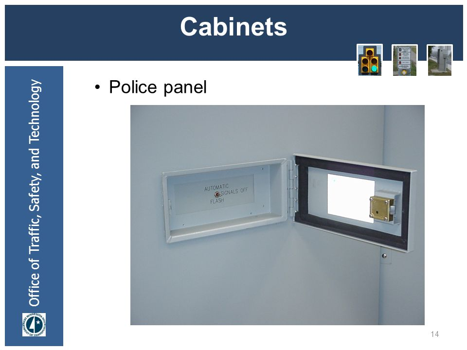 Office of Traffic, Safety, and Technology Cabinets Police panel 14