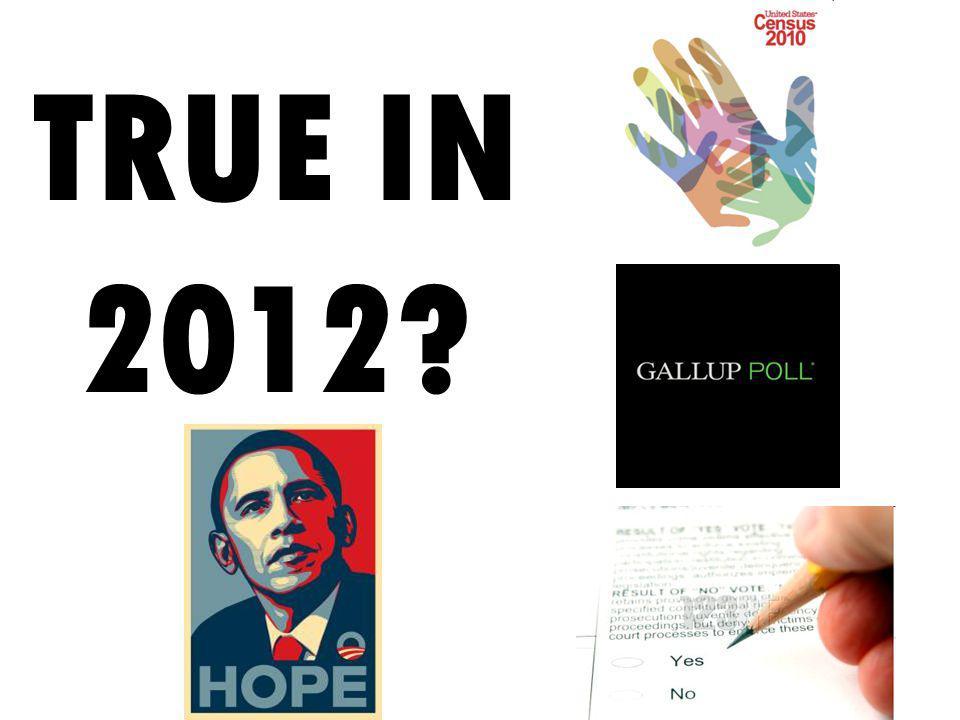 TRUE IN 2012?