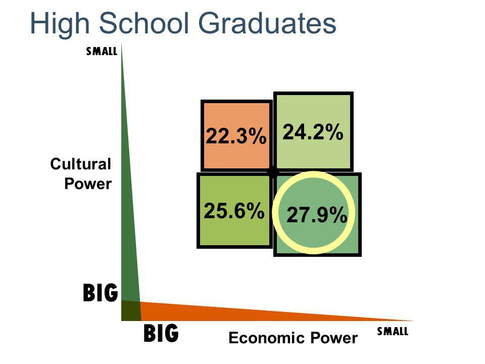 Cultural Power SMALL BIG SMALL BIG Economic Power High School Graduates 25.6% 22.3% 27.9% 24.2%