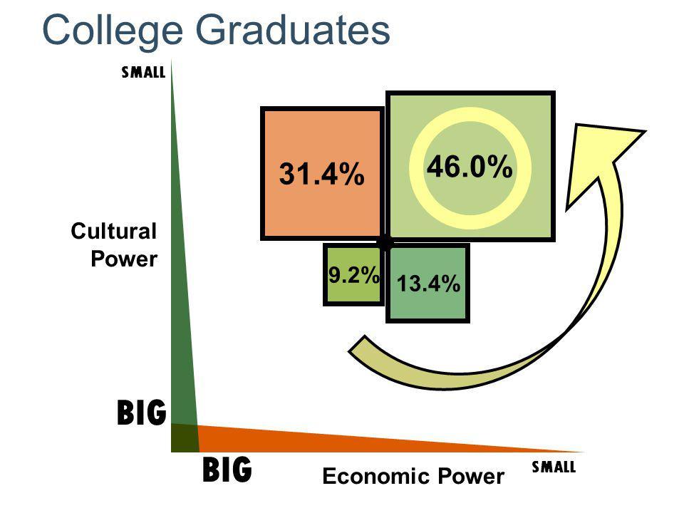 Cultural Power SMALL BIG SMALL BIG Economic Power College Graduates 46.0% 13.4% 31.4% 9.2%