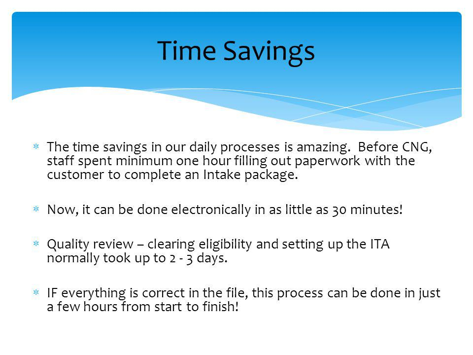 The time savings in our daily processes is amazing.