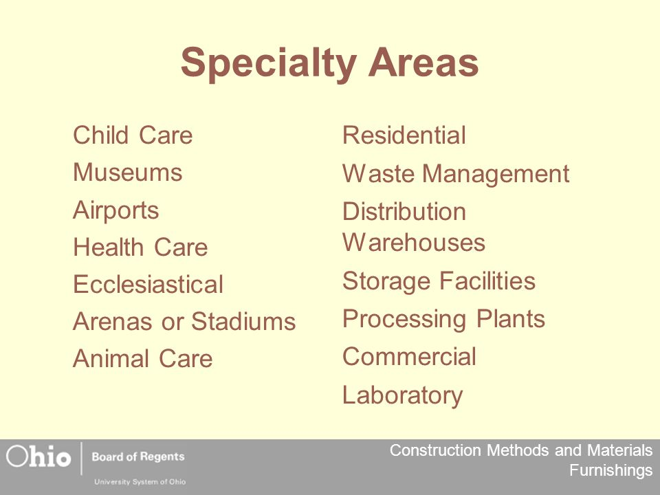 Construction Methods and Materials Furnishings Specialty Areas Residential Waste Management Distribution Warehouses Storage Facilities Processing Plan