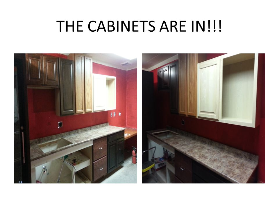 THE CABINETS ARE IN!!!