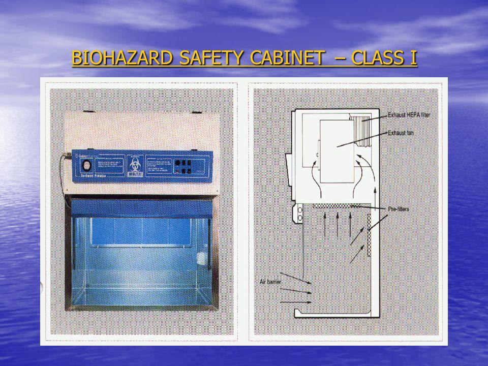BIOHAZARD SAFETY CABINET – CLASS I