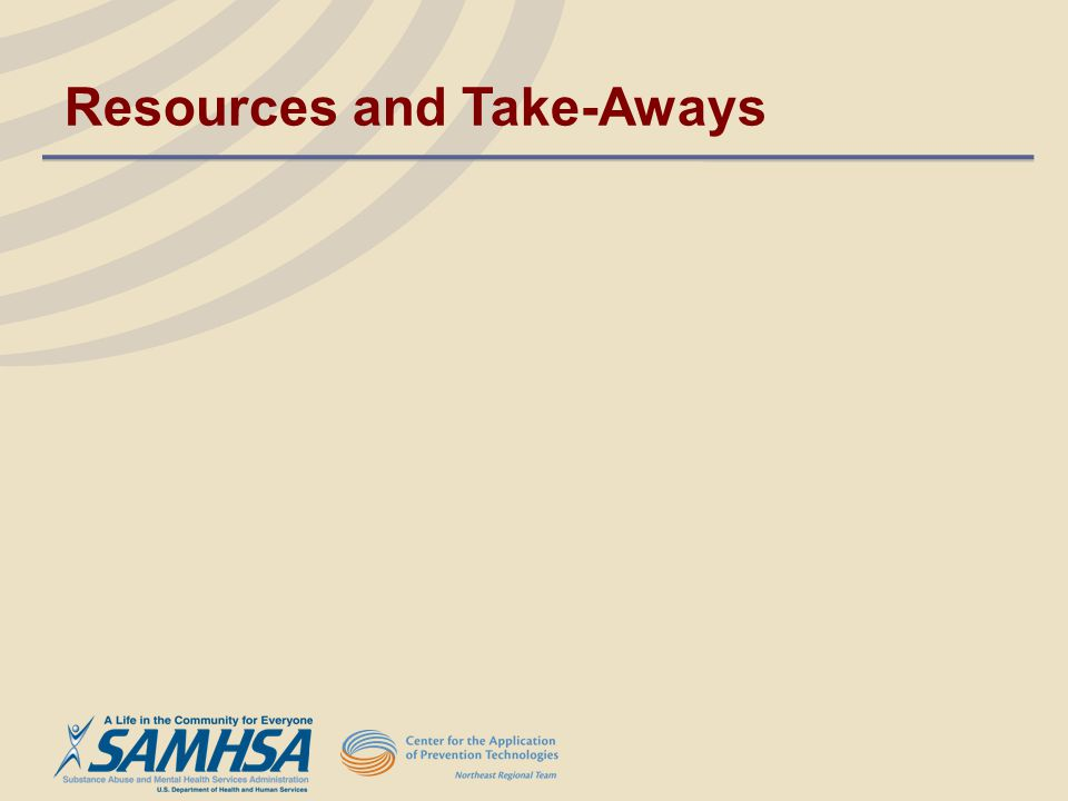 Resources and Take-Aways