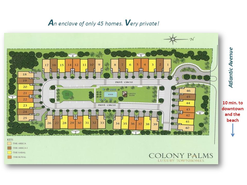 A n enclave of only 45 homes. V ery private! Atlantic Avenue 10 min. to downtown and the beach