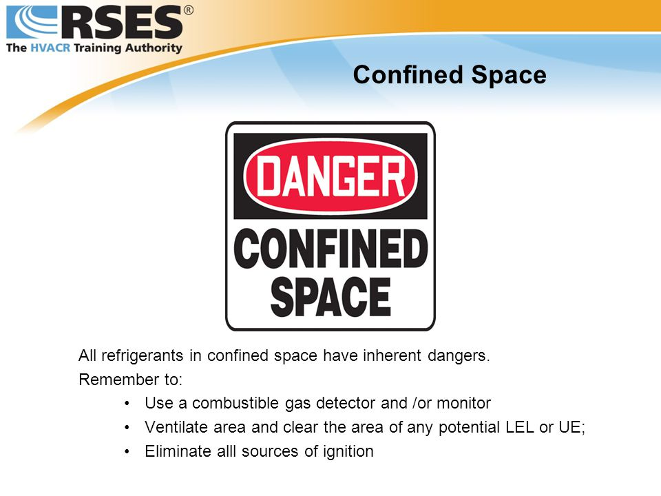 All refrigerants in confined space have inherent dangers.