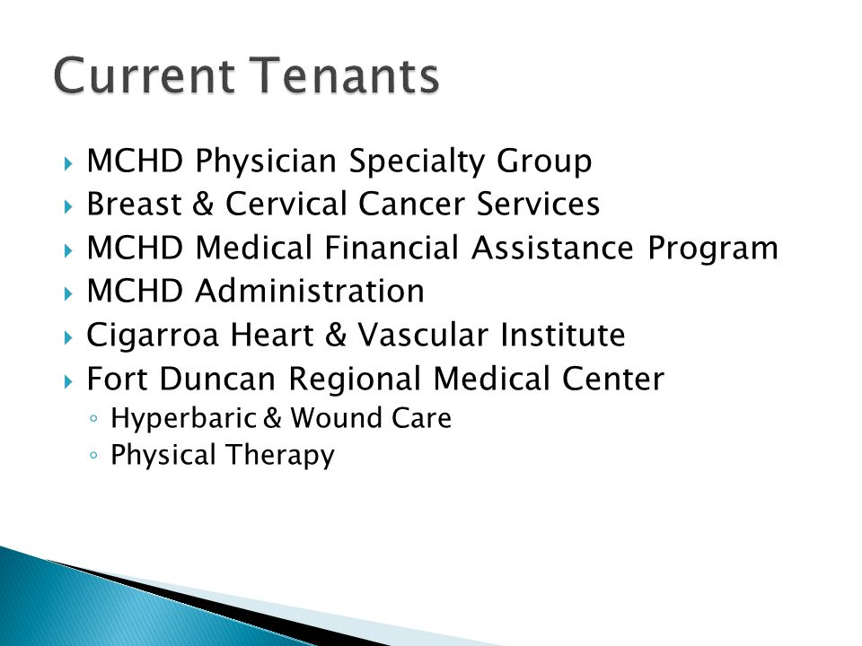 MCHD Physician Specialty Group Breast & Cervical Cancer Services MCHD Medical Financial Assistance Program MCHD Administration Cigarroa Heart & Vascul