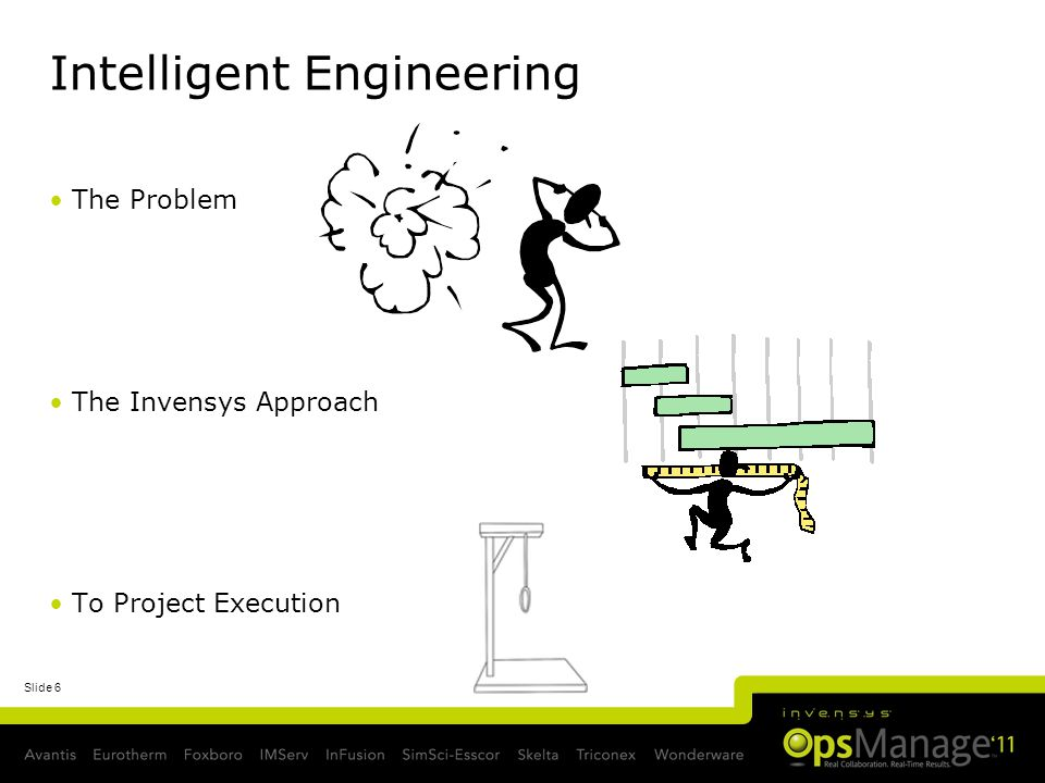 Slide 6 Intelligent Engineering The Problem The Invensys Approach To Project Execution