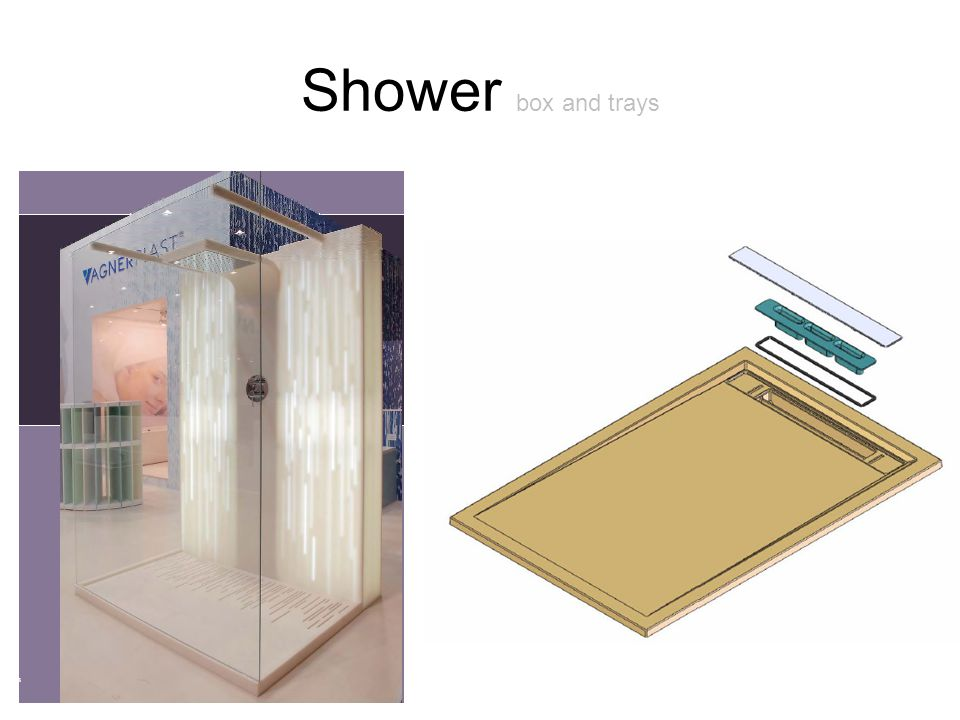 Shower box and trays