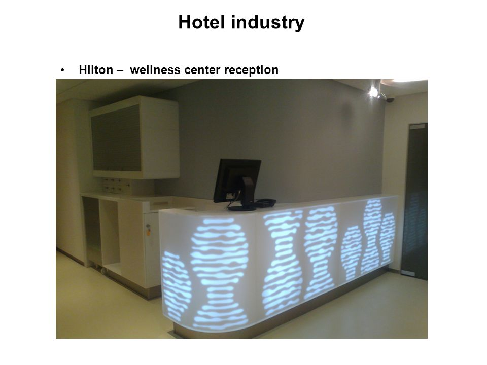 Hotel industry Hilton – wellness center reception