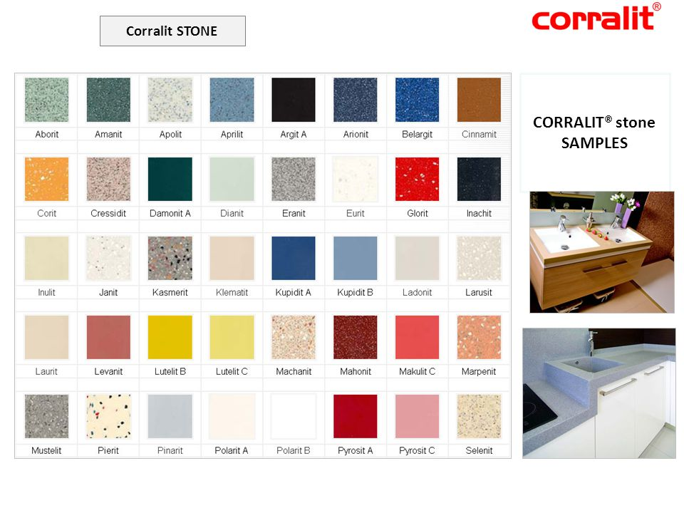 Corralit STONE CORRALIT® stone SAMPLES CORRALIT®ART