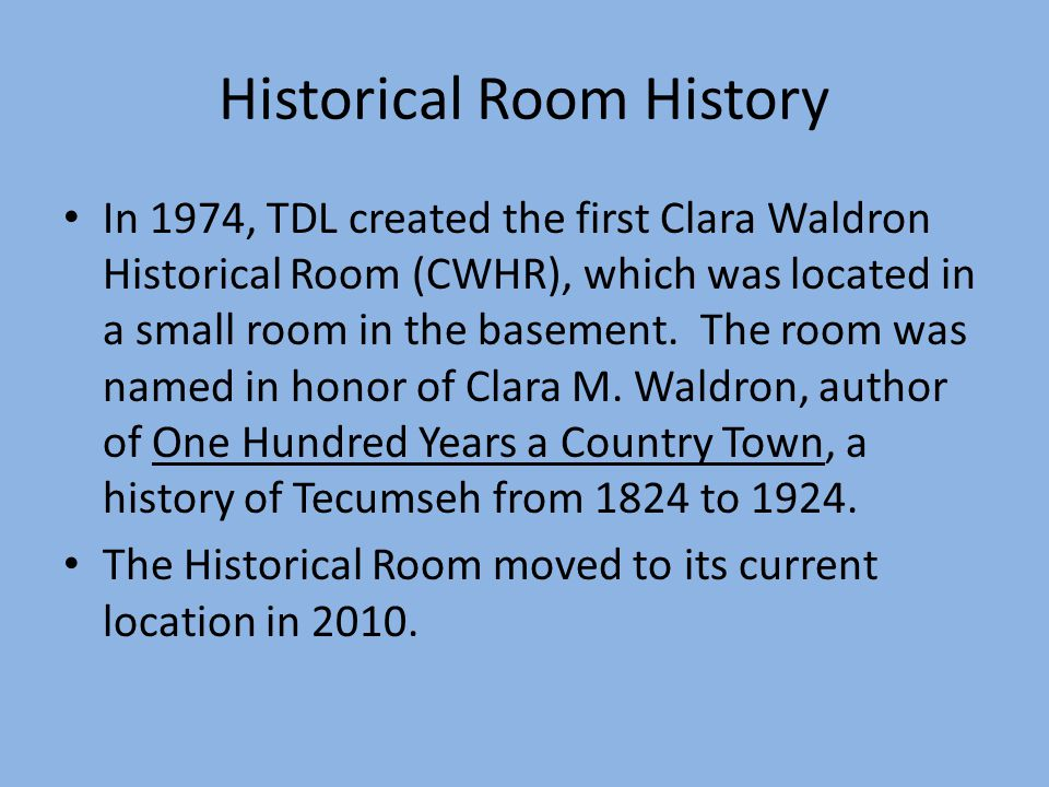 Clara Waldron One Hundred Years A Country Town by Clara Waldron.