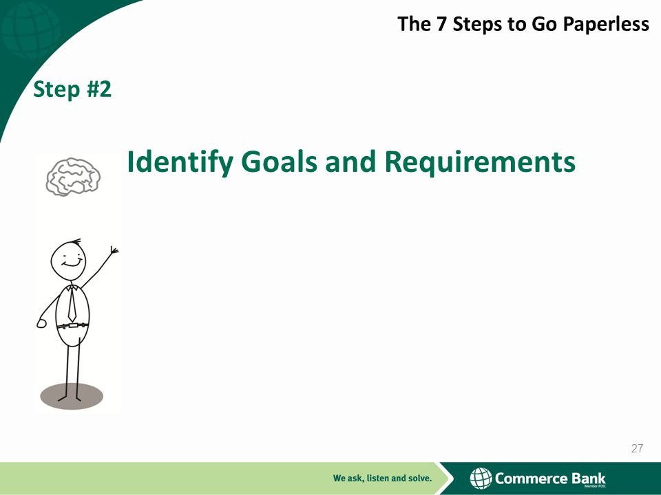 Step #2 Identify Goals and Requirements 27