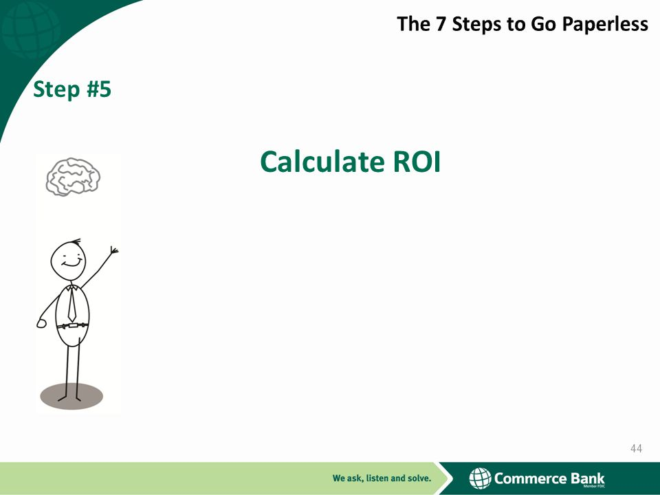Step #5 Calculate ROI 44