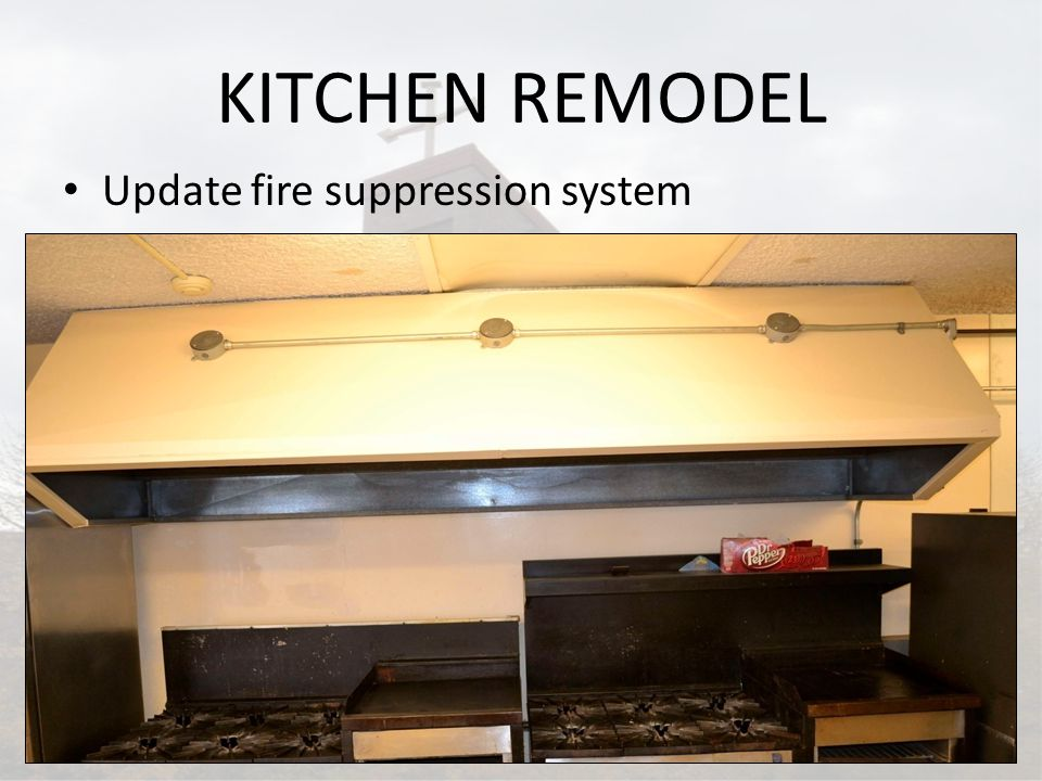 KITCHEN REMODEL Update fire suppression system