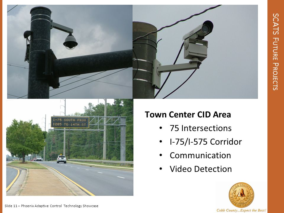 SCATS C OST CUMBERLAND CID AREA (2005) Total Project - $3.7 Million 271 Cameras – 40% ($22k per intersection) SCATS – 30% ($15k per intersection) Misc.