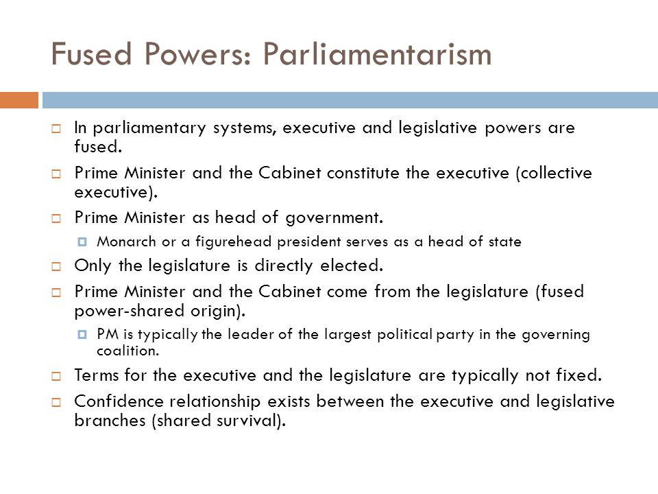 Divided Government in France Semi-presidential systems deal with divided government to an extent not usually observed in parliamentary systems.