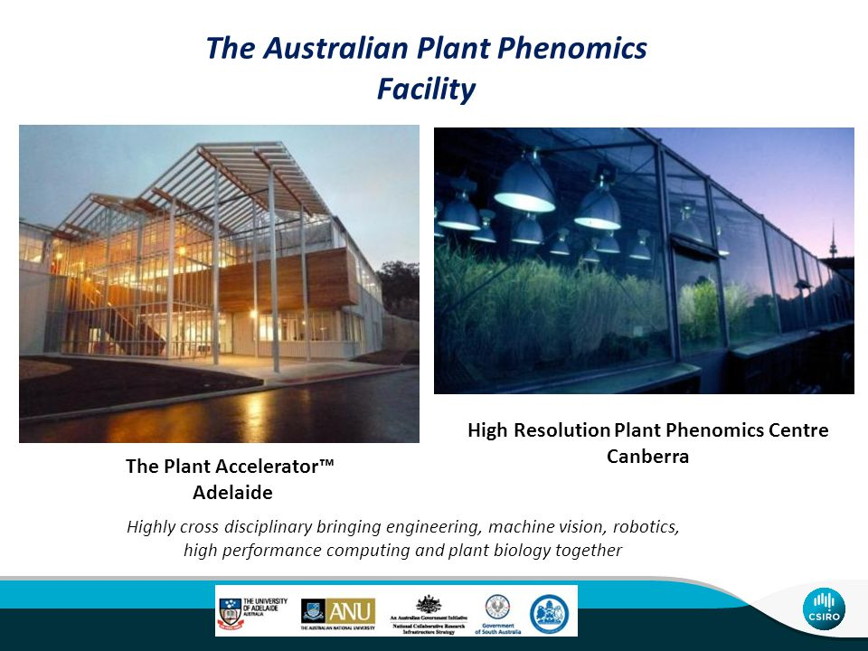 High Resolution Plant Phenomics Centre The Centres researchers develop new ways to discover the function of genes and to screen plant varieties for useful agricultural traits.