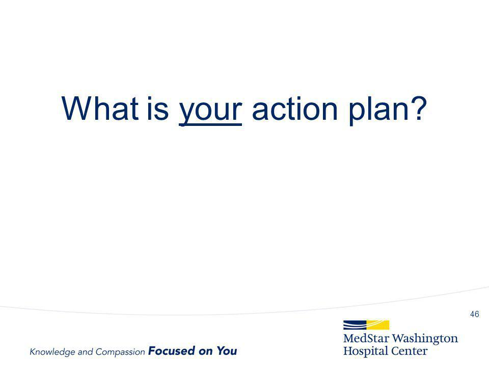 What is your action plan? 46