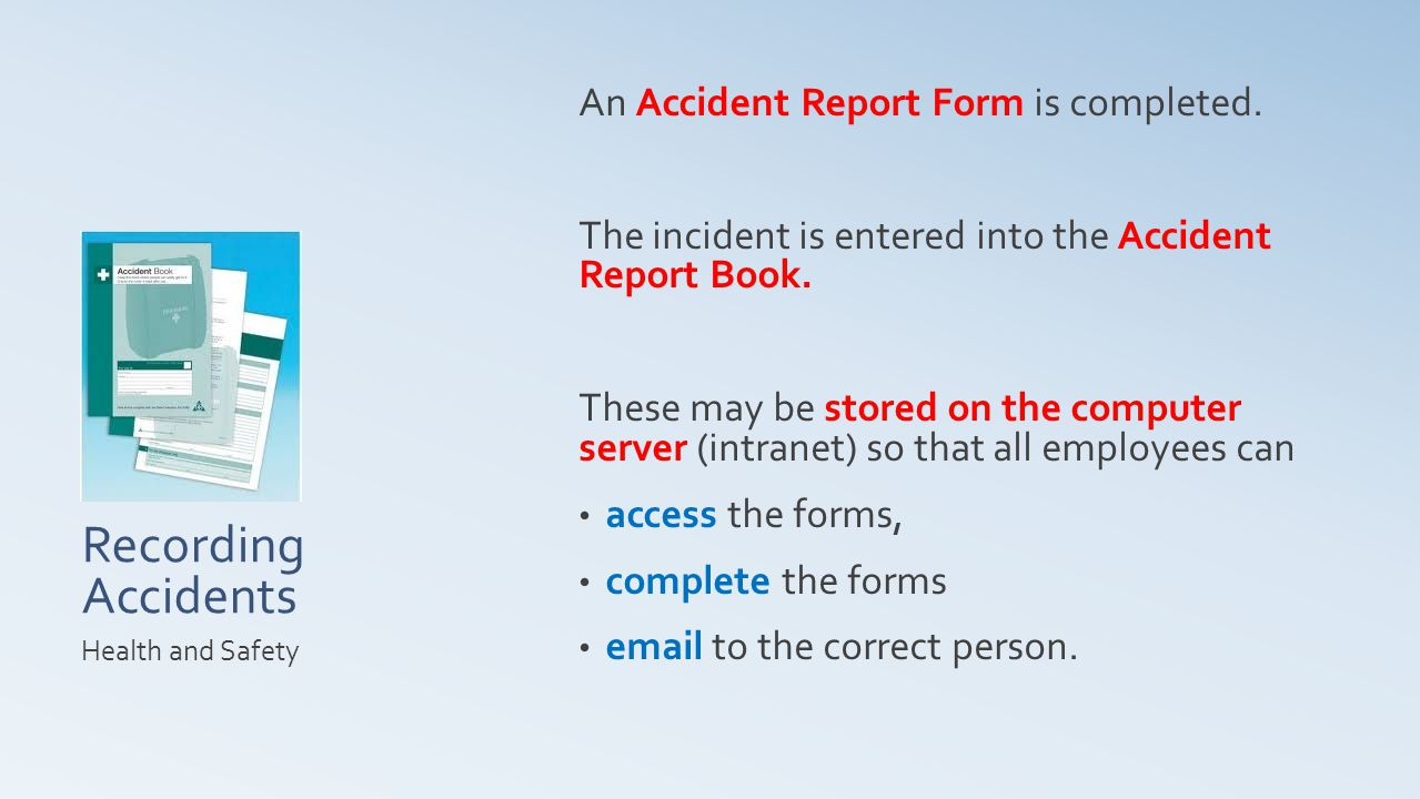 Accident Report Form Health and Safety