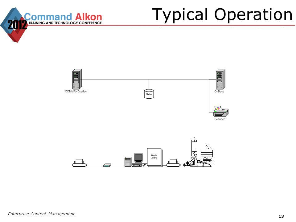 Typical Operation Enterprise Content Management 13