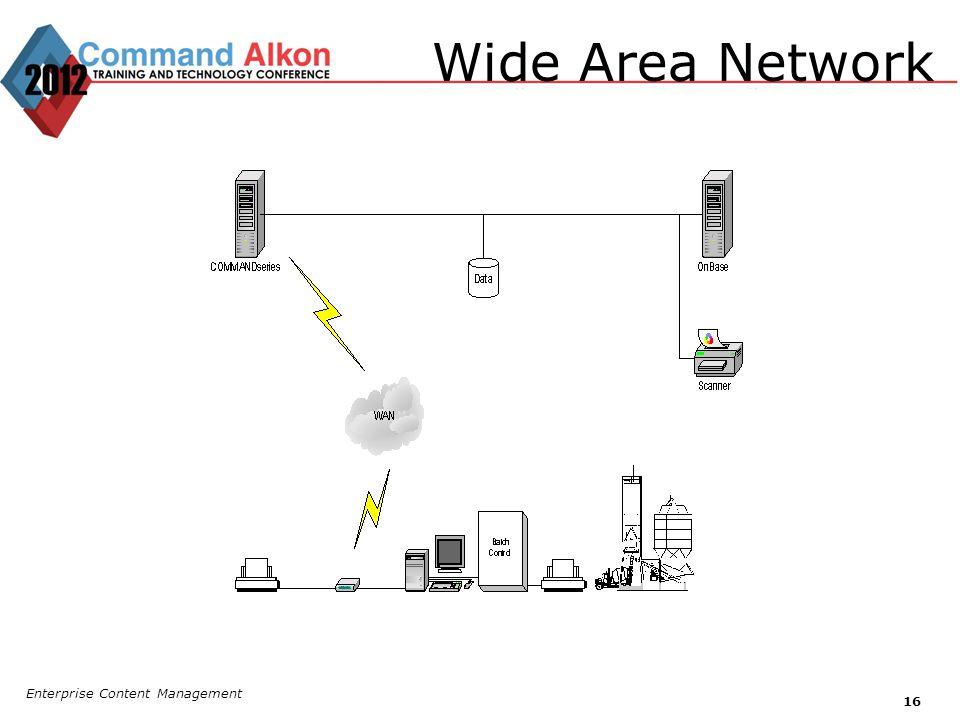 Wide Area Network Enterprise Content Management 16