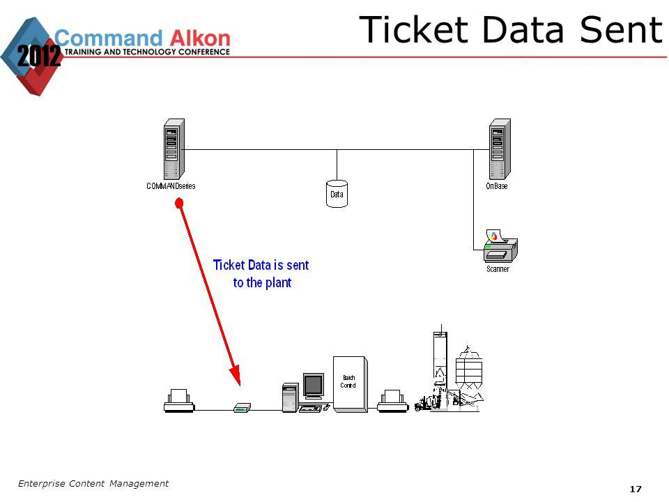 Ticket Data Sent Enterprise Content Management 17