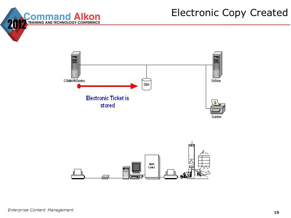 Electronic Copy Created Enterprise Content Management 18