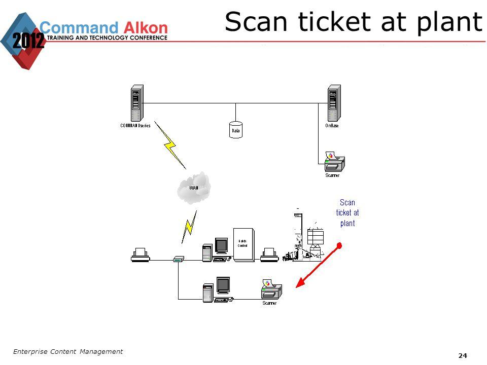 Scan ticket at plant Enterprise Content Management 24