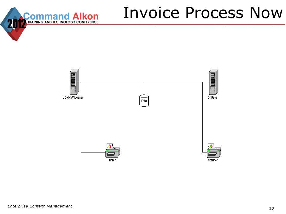 Invoice Process Now Enterprise Content Management 27