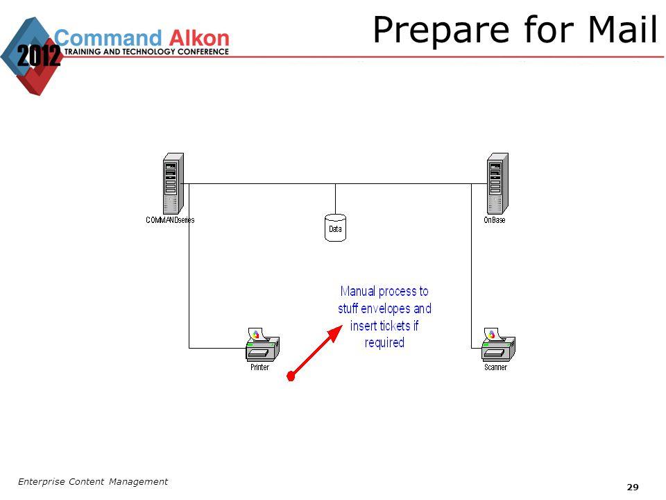 Prepare for Mail Enterprise Content Management 29