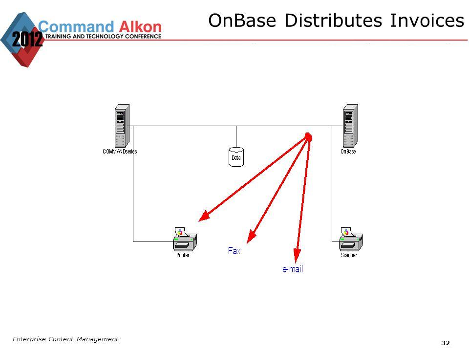 OnBase Distributes Invoices Enterprise Content Management 32