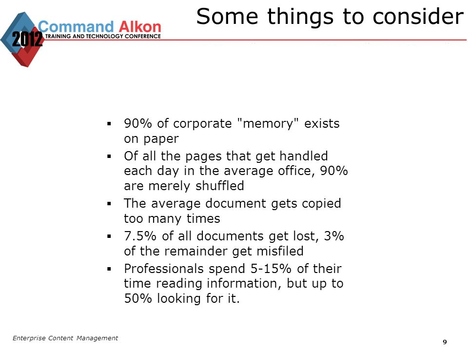 Some things to consider 90% of corporate