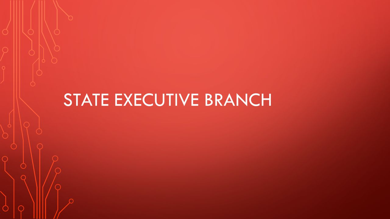 STATE EXECUTIVE BRANCH