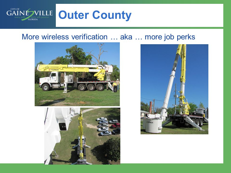 Outer County More wireless verification … aka … more job perks