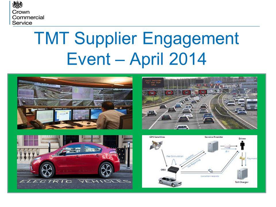 TMT Supplier Engagement Event – April 2014