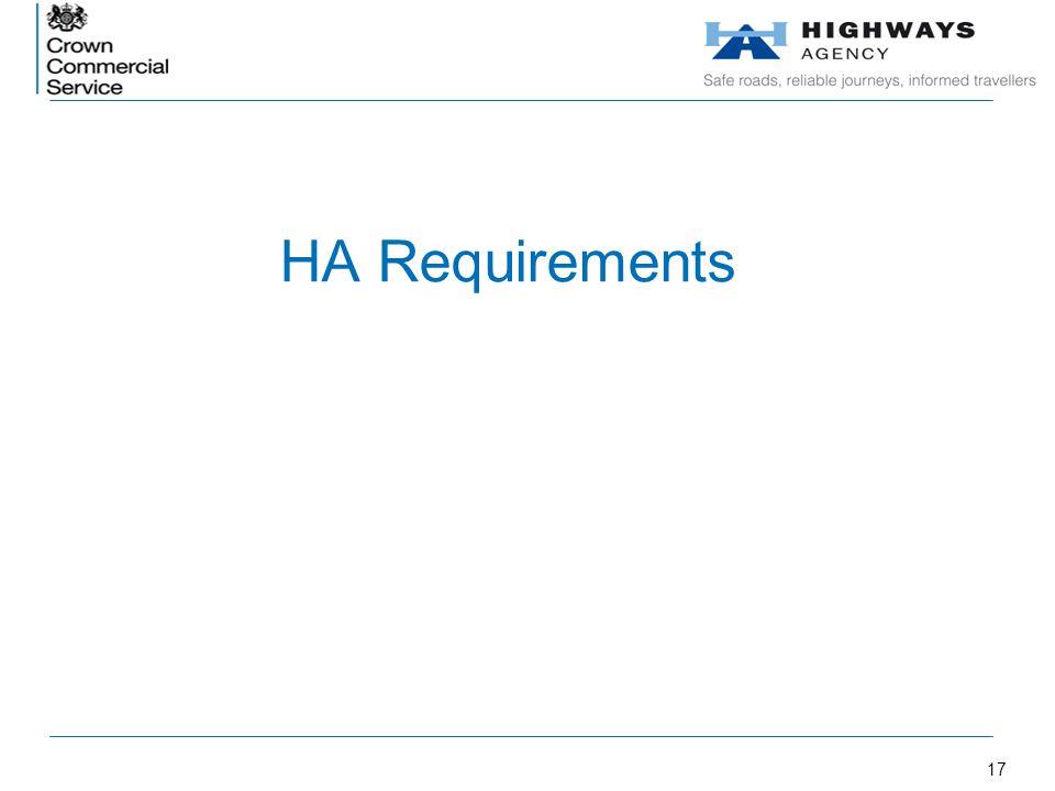 17 HA Requirements